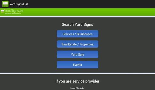【免費商業App】Yard Signs List-APP點子