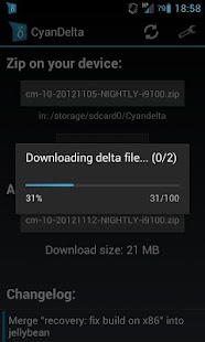 CyanDelta Updater - screenshot thumbnail