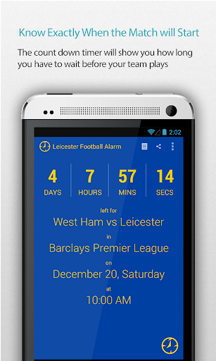 Leicester Football Alarm