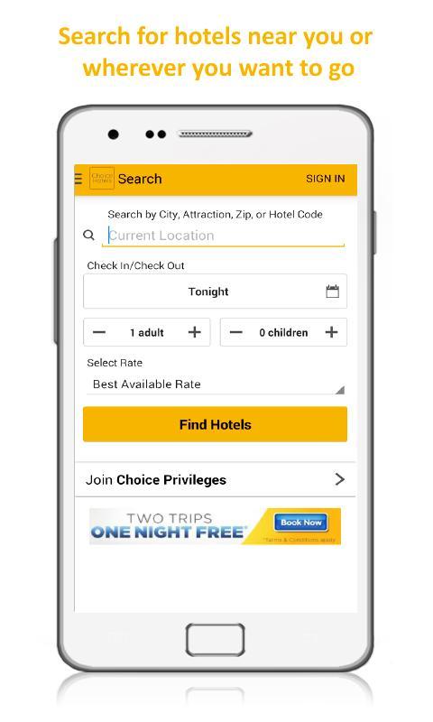Choice Hotels – Book Now! - screenshot