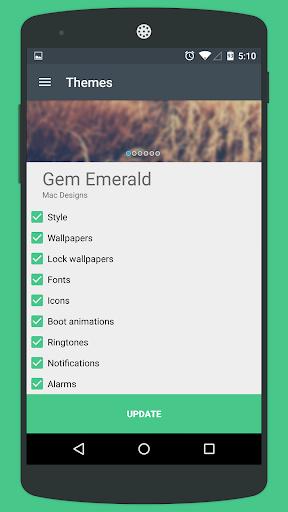 Gem Emerald CM12 Theme