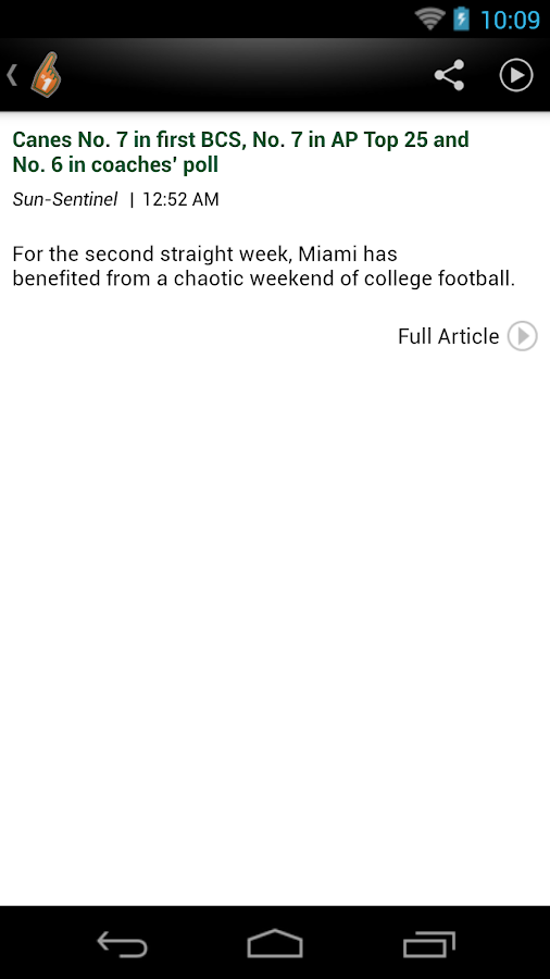 Hurricanes News - screenshot