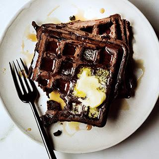 Dark Chocolate Waffles.