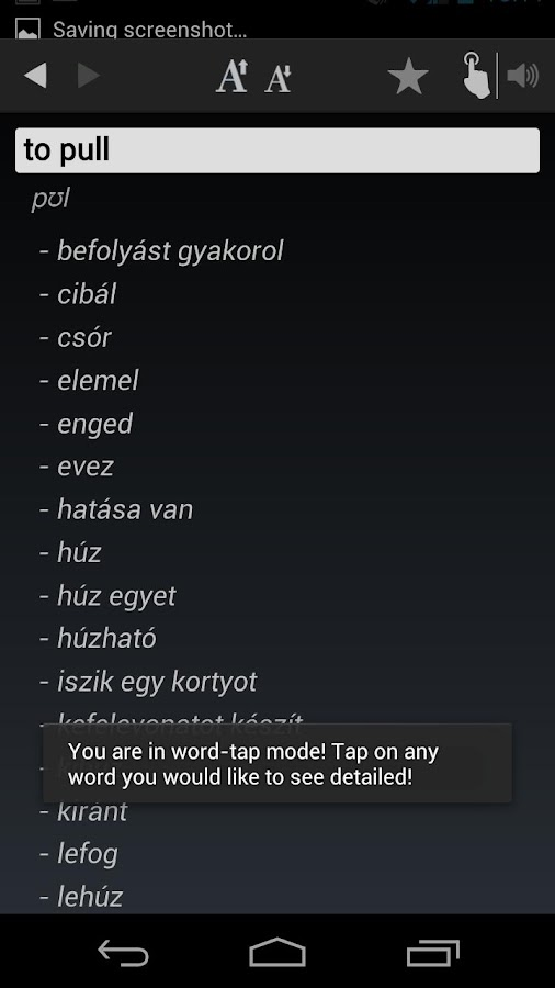 Free Dict Hungarian English- screenshot