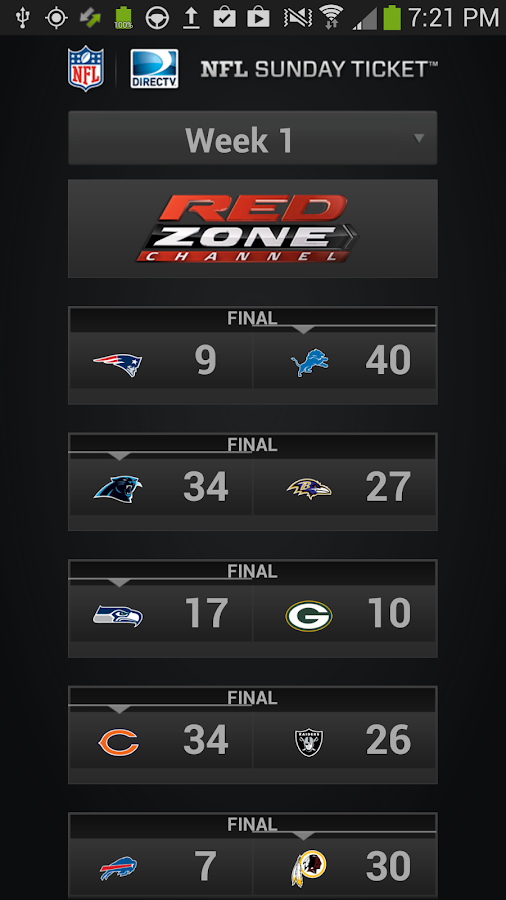 NFL Sunday Ticket - screenshot