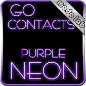 Purple Neon GO contacts theme