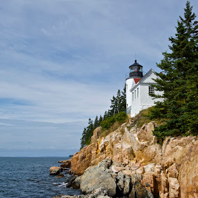 Bass Harbor Head Lighthouse II by Roy Walter - Buildings & Architecture Public & Historical ( lighthouse, historical, public, coast )