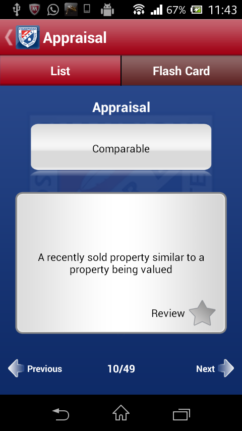 Texas Real Estate Flashcards- screenshot