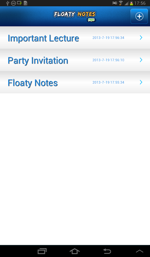 Floaty Notes Free: Share Notes- screenshot