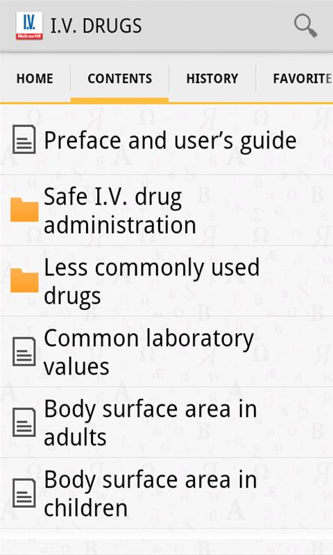 I.V. Drug Handbook - screenshot