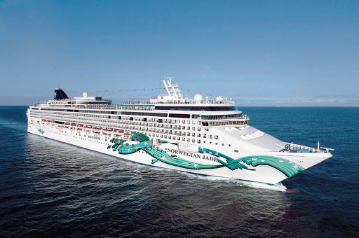 Norwegian-Jade-Aerial-Starboard - Explore the Mediterranean aboard Norwegian Jade, a Jewel-class cruise ship loaded with activities and entertainment on deck.