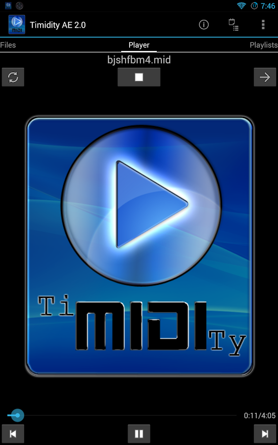 Timidity AE MIDI Player- screenshot