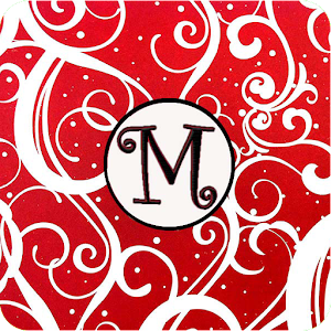 Christmas Monogram M Live WP for Android