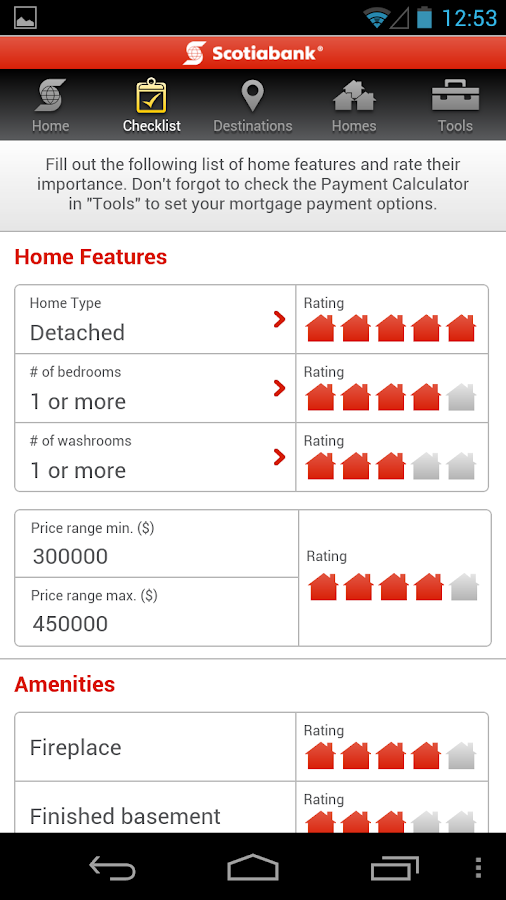Scotiabank Dream Home Finder - screenshot