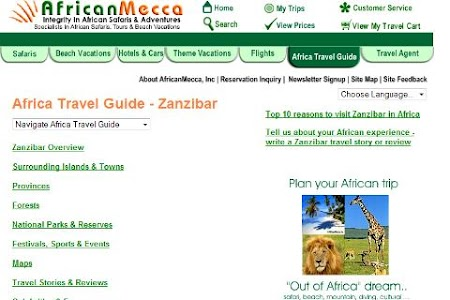 Zanzibar Travel Hotel Guide screenshot 0