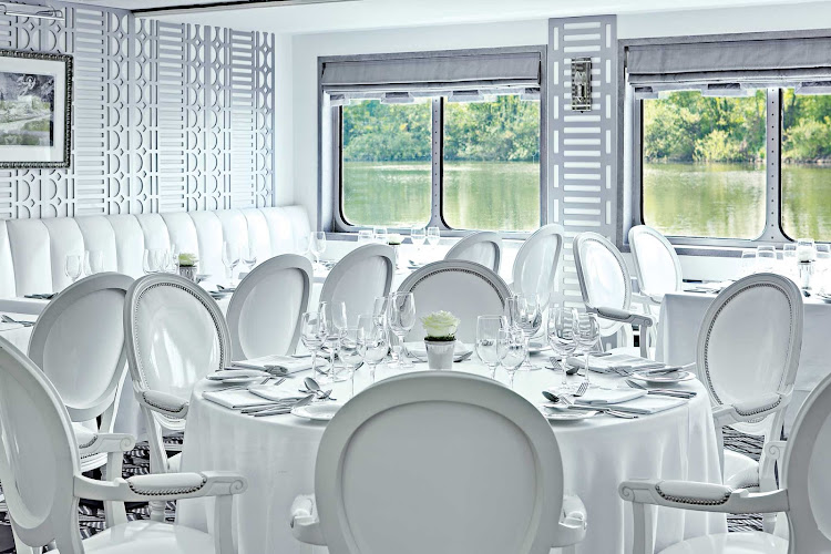 The lavish design and calming atmosphere of The A's restaurant will impress as you embark on your European cruise.