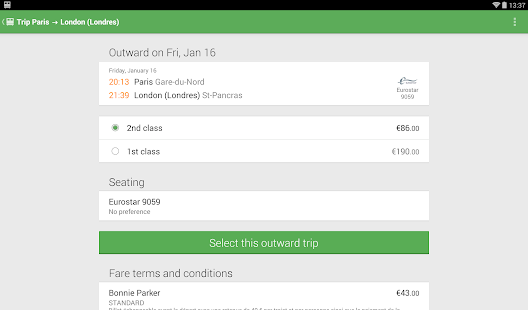 Trainline EU (Captain Train) Screenshot 18