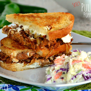Grilled Jalapeno Popper Pulled Pork Sandwiches