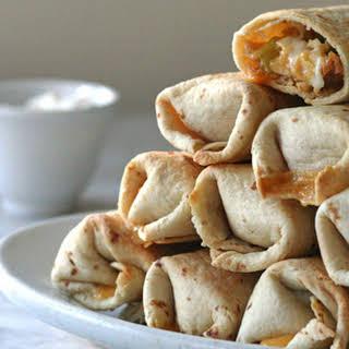 Crispy Baked Chicken Burritos.