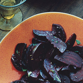 Roasted Beets with Cumin and Mint.