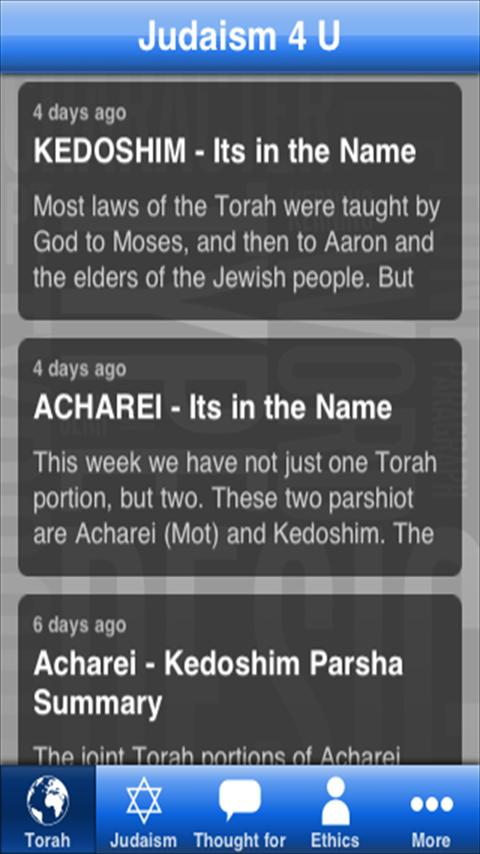 Judaism 4 U - screenshot