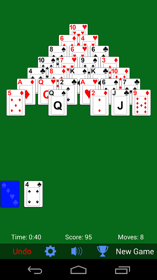 google pyramid solitaire