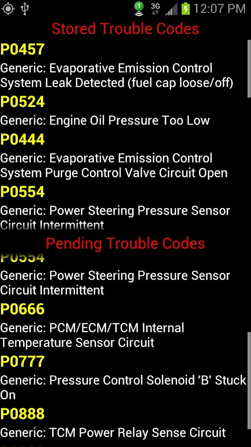 Dyno-Scan (OBD II Scan Tool) - screenshot