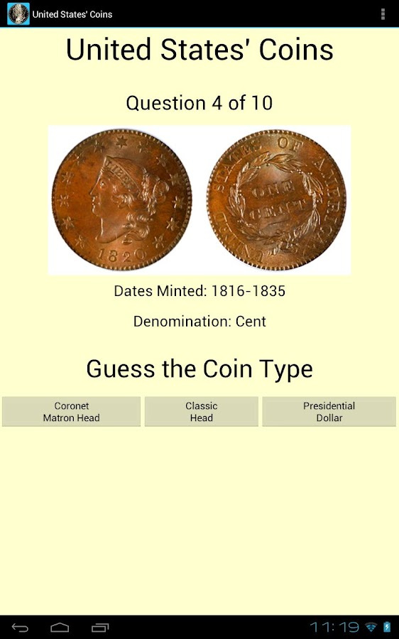 United States' Coins - screenshot