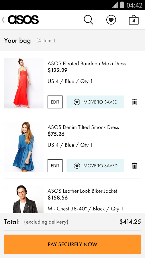 ASOS - screenshot