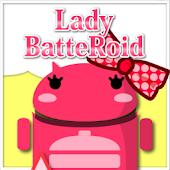 LadyBatteRoidRibbonDiagonalRed