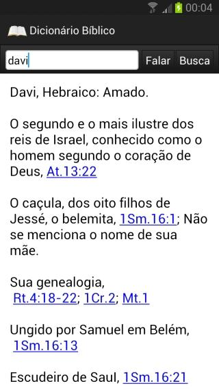 Bíblia Eletrônica - screenshot