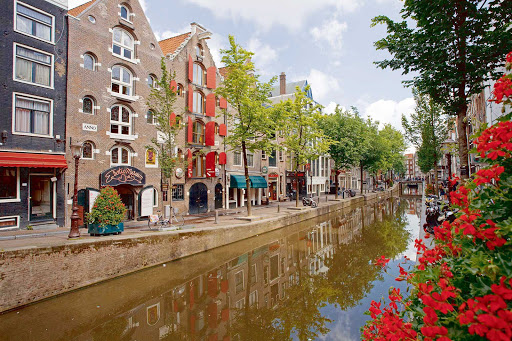 Canal in Amsterdam, the Netherlands.
