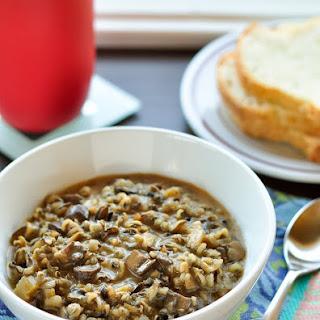 Wild Rice and Mushroom Soup.