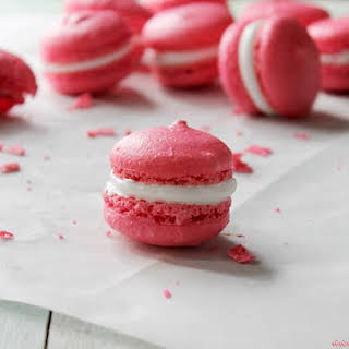 French Macarons with Marshmallow Frosting.