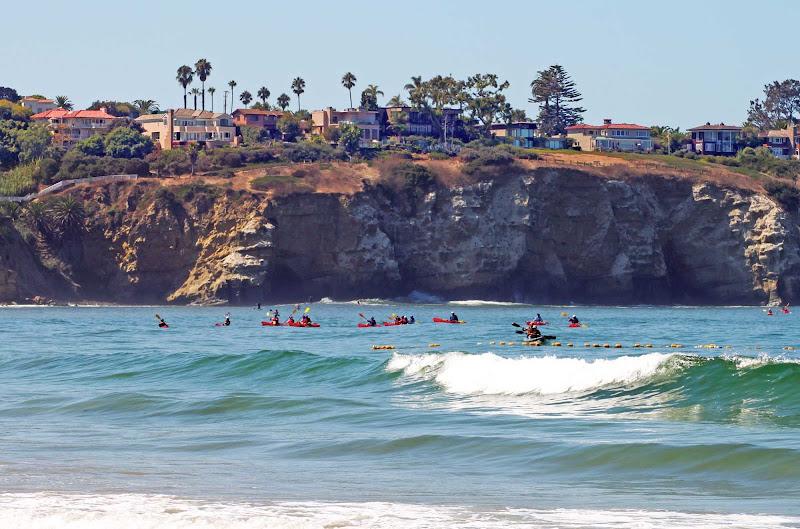 Kayakers at La Jolla Shores near San Diego.
