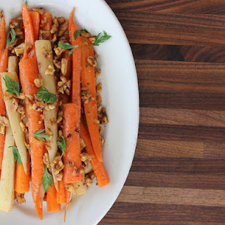 Carrots & Parsnips with Walnuts