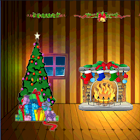Cartoon Christmas Pop-Out 3D icon