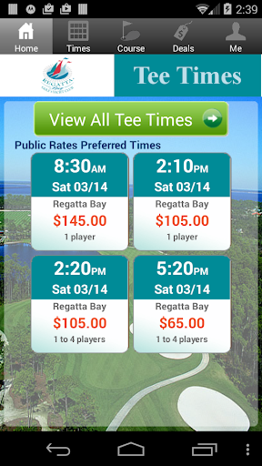 Regatta Bay Golf Tee Times
