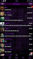 Screenshot of GO SMS Pro Purple Kush Theme