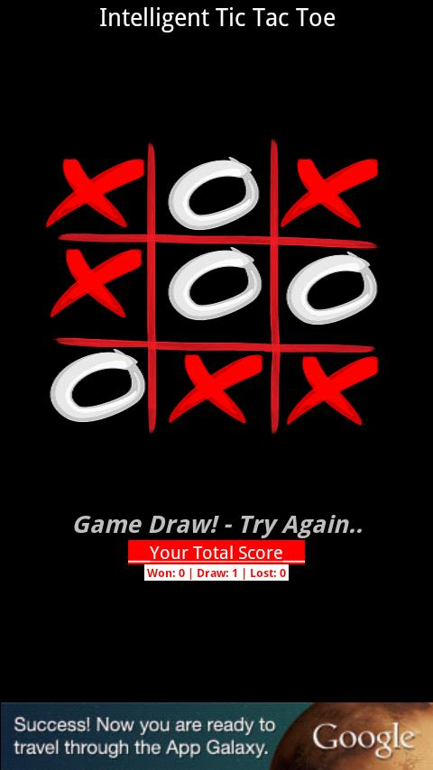 Intelligent Tic Tac Toe- screenshot