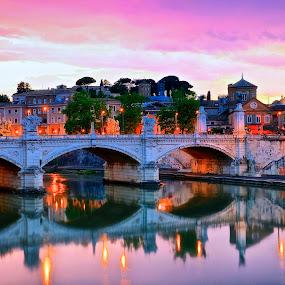 Rome by Ronald Susaya - Uncategorized All Uncategorized ( rome, sunset, stunning, tiber, italy, saint peter's,  )