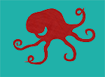 Outline of a five-and-a-half-tentacled octopus.
