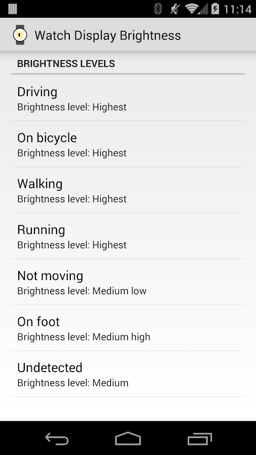 Display Brightness for Wear - screenshot