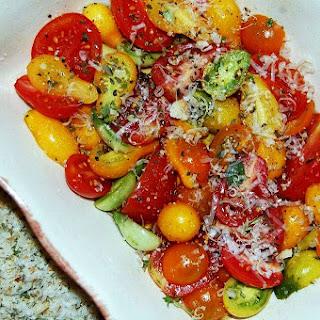 Strozzapreti with Grape and Cherry Tomato Gratin