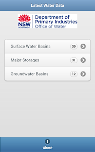 NSW RealTime Water Data- screenshot thumbnail