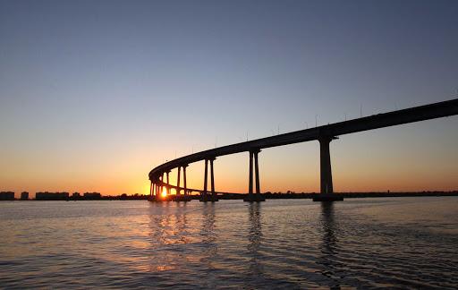 San-Diego-Coronado-Bridge - The Coronado Bridge as sunset in San Diego, California.