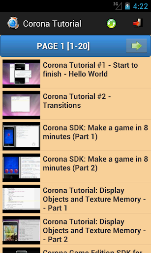 Tutorial for Corona SDK