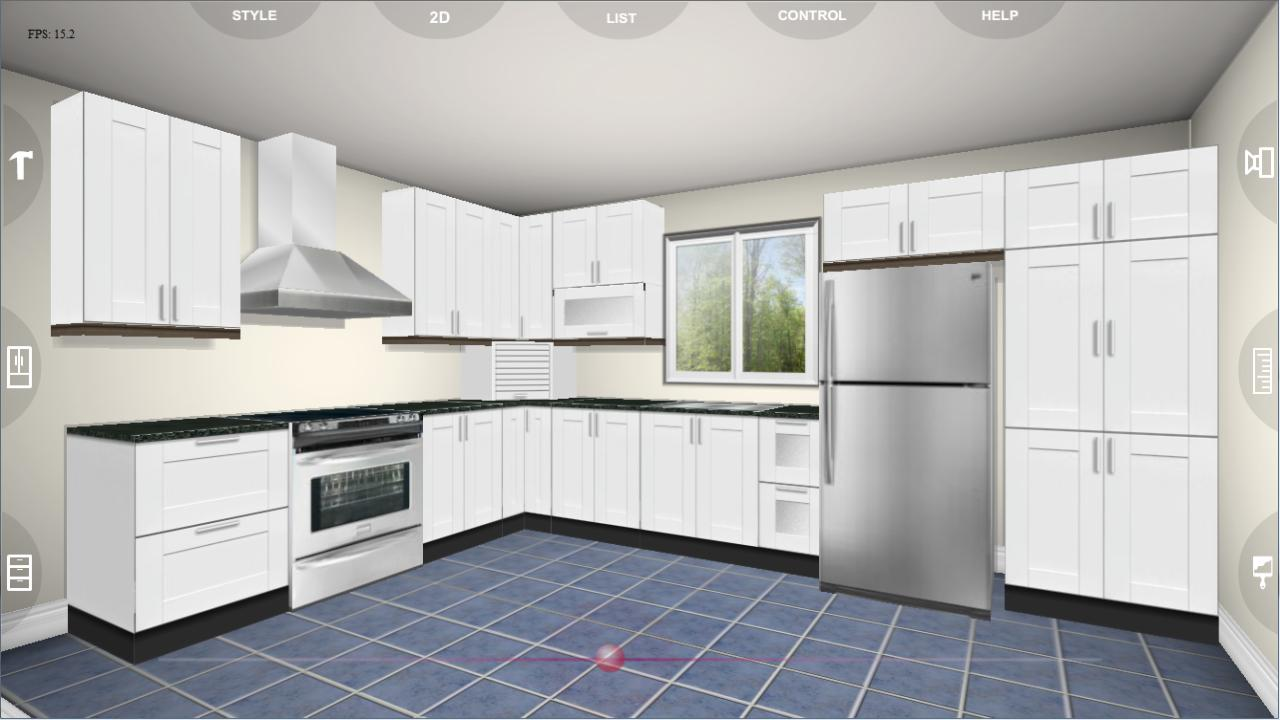udesignit kitchen 3d planner screenshot - Kitchen Cabinet Layout Software