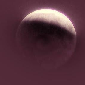 Purple Moon by Nat Bolfan-Stosic - Uncategorized All Uncategorized ( magic, moon, sky, purple, night,  )