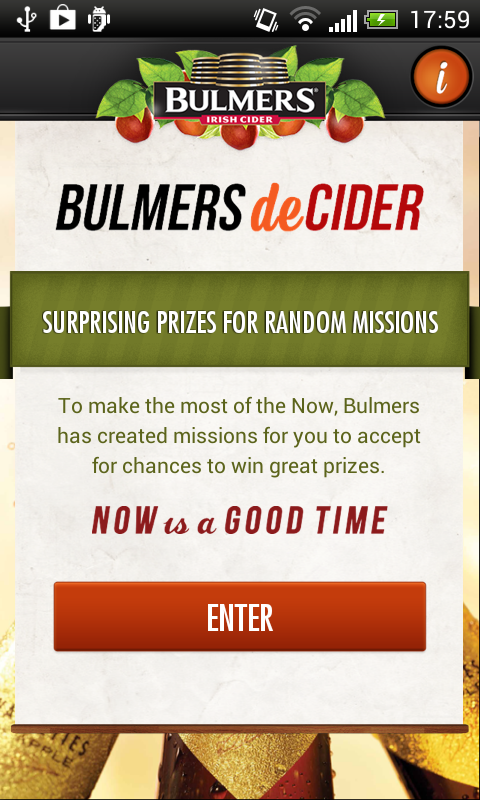 Bulmers deCider - screenshot